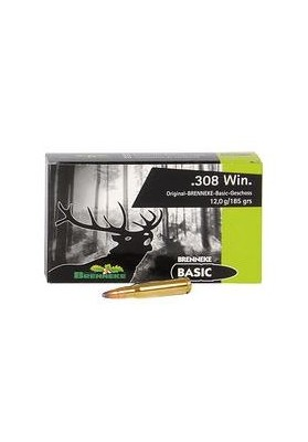 Cart. Brenneke Cal. 308 Win-185gr Basic 20un
